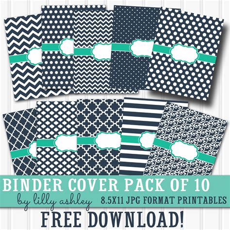 Printable 3 Ring Binder Covers | make it create by lillyashley freebie downloads free