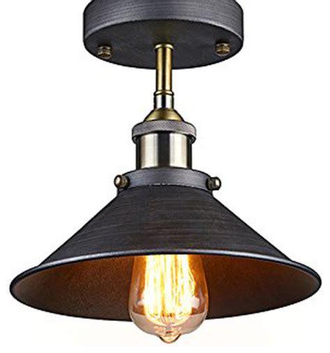antique industrial edison semi flush ceiling l vintage