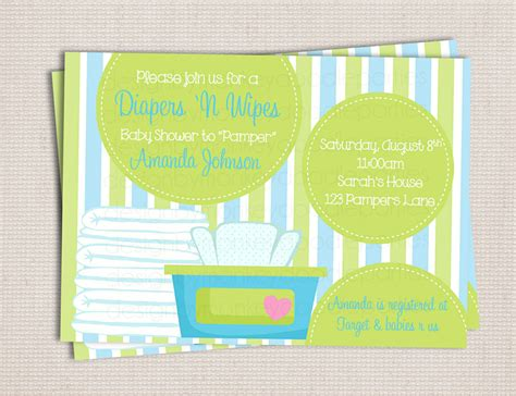 diapers and wipes baby shower and wipe blue green baby boy by monkeydoodleparties