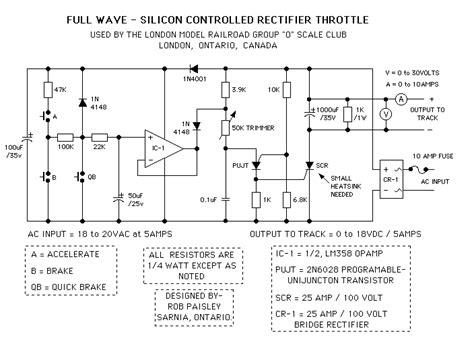 rectifier diode nedir silicon controlled rectifier model railroad throttles basic circuit circuit diagram seekic