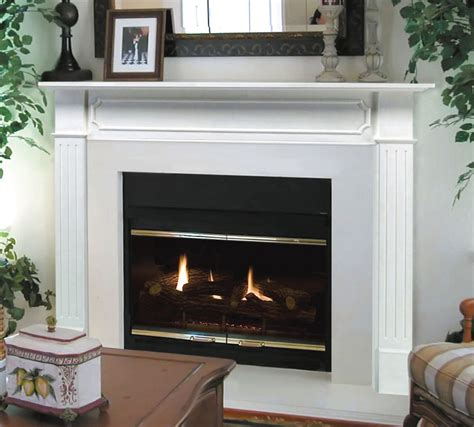 Pearl Fireplace Mantels by Pearl Mantel Classic 48 Quot Berkley White Traditional