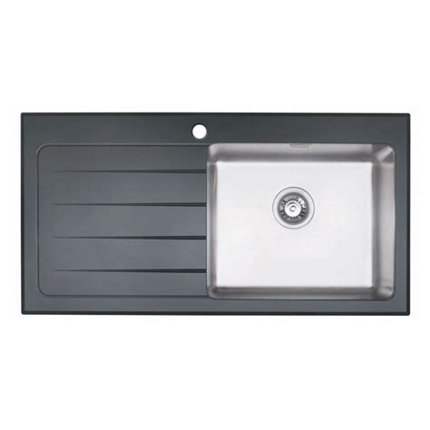 glass kitchen sink bluci kubevetro 1 0 bowl black glass sink sinks taps com