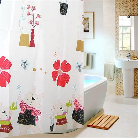 cute shower curtains cartoon flower kids favorite cute shower curtains