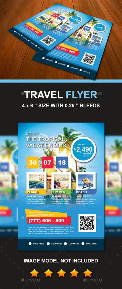 travel vacation flyer vacation flyer template and