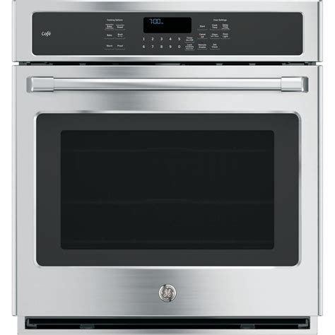 Ge Oven Rack Replacement by Ge 27 In Single Electric Smart Wall Oven Self Cleaning
