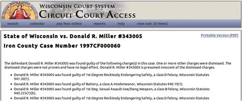 Wisconsin Circuit Court Search Wisconsin Circuit Court Access Image Search Results