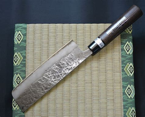 Handmade Japanese Kitchen Knives - japanese kitchen knife kawamura nakiri 165mm