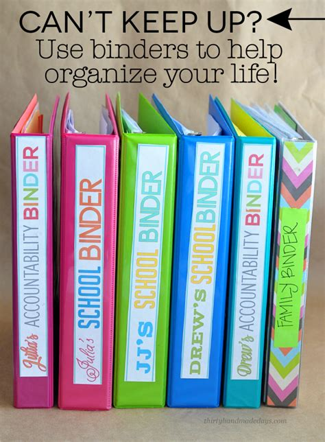 organizing life can t keep up how to use binders to organize your life