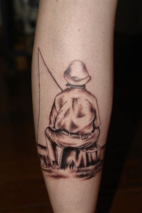 fishing memorial tattoo fishing memorial tattoos