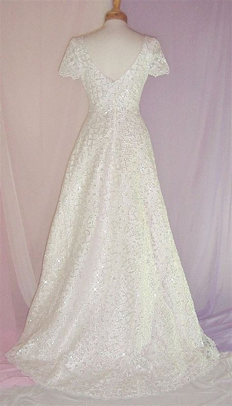 heavily beaded wedding dress b1906siv made ivory heavily beaded sequin bridal gown