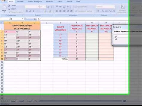 tabla de frecuencia variable cualitativa con excel youtube tabla de frecuencias para una variable cualitativa en