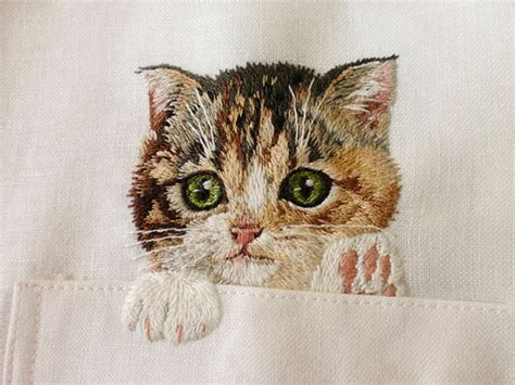 Cat Embroidery Shirt embroidered cat shirts by hiroko kubota go viral and sell