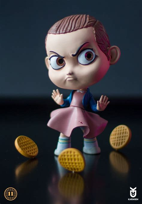Cute Figurines by Eleven Strangerthings Art Toy From Oasim Karmieh