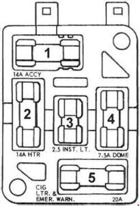 Ford Mustang (1965 - 1966) - fuse box diagram - Auto Genius