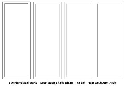 plain bookmark template bookmark template s place templates 4