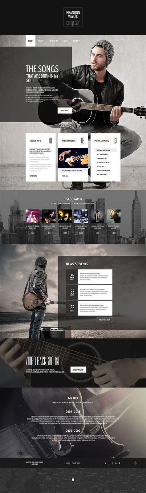 Top 10 Personal Page Web Templates Free Templates Online Portfolio Web Page Template