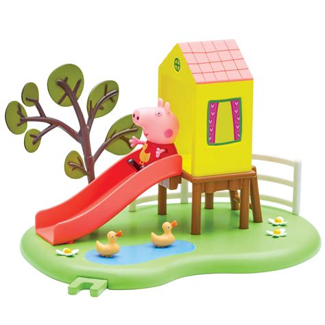 swinging toys peppa pig outdoor fun slide playset toy at mighty