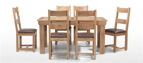 Oak Dining Table With 6 Chairs Constance Oak 160 Cm Dining Table And 6 Chairs Quercus Living