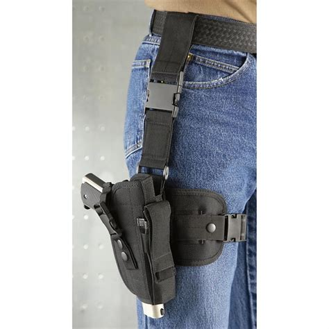 tactical holster gmg tactical drop leg holster 173235 holsters at sportsman s guide