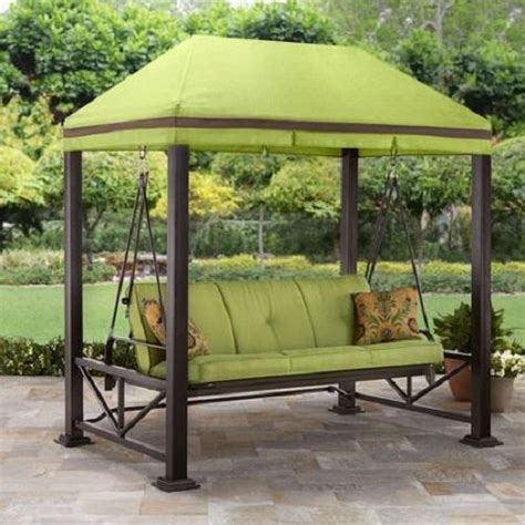 3 person porch swing outdoor patio 3 person swing sturdy 3 1 8 steel posts with