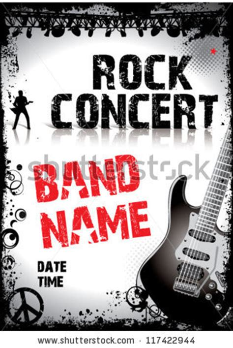 free templates for band posters royalty free stock photos and images rock concert poster