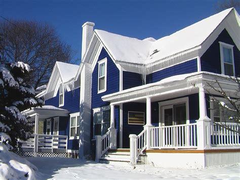 Blue color exterior paint combination