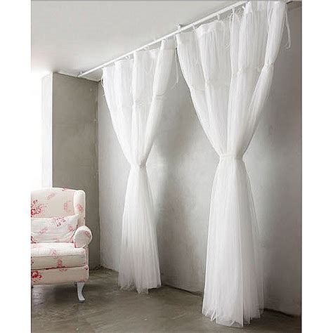 French style white sheer solid lace curtains
