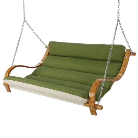 canvas swings spectrum cilantro deluxe cushioned double porch swing