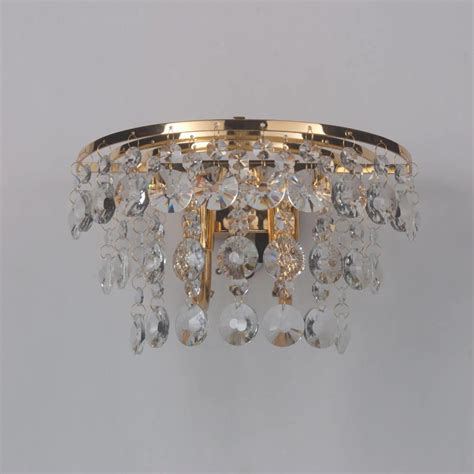 gold crystal wall lights crystal wall light montego gold from litecraft