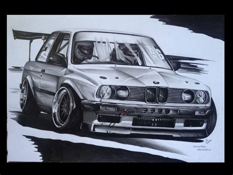 drift cars drawings bmw e30 drift car by mnichuu on deviantart