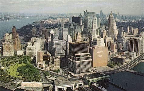 nyc color color aerial postcard views of manhattan s skyline in the