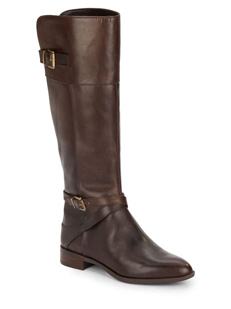 saks fifth avenue noah leather boots in brown lyst
