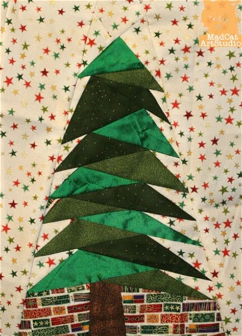 christmas tree paper pieced christmas tree in july foundation pieced pattern tree quilting trees patterns and