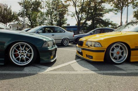 bmw e36 meeting boston green on bbs rk wheels dakar