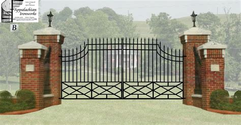 house entry gate design estate entry gates digital estimate drawings for massive estate entrance gate