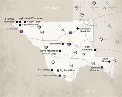 map of state parks in texas big bend ranch state park geography map climate desertusa
