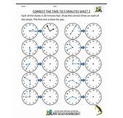 Analog Time Worksheets  The To 5 Minutes Sheet 2 Correct