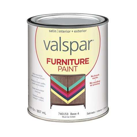 shop valspar furniture satin interior exterior paint actual net contents 29 fl oz at