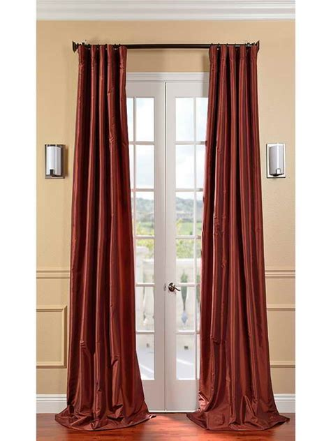 long length curtain panels decoration paprika silk long length curtain ideas long