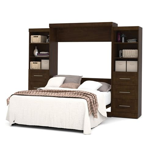 wall bed kits pur 115 quot queen wall bed kit in chocolate