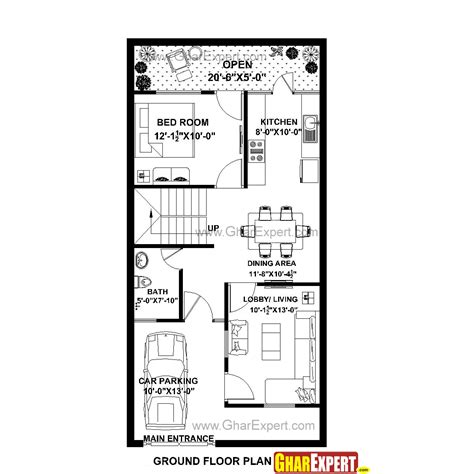 1 gaj square meter house plan for 22 feet by 45 feet plot plot size 110