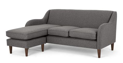 helena sofa helena large corner sofa textured weave smoke grey made com