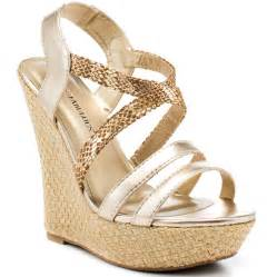 gold wedges shoes louella gold justfab 59 99 free shipping