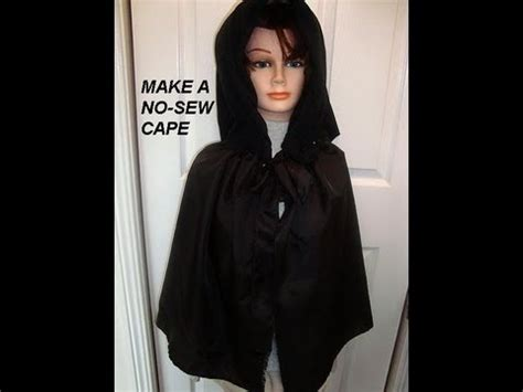 Hq 9295 Cape Shirt Blouse how to no sew cape diy witch dracula wizard costume