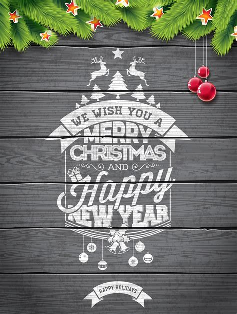 vector merry christmas holiday  happy  year
