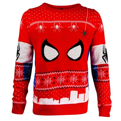 knitting pattern for spiderman jumper spider man knitted christmas jumper geekcore co uk