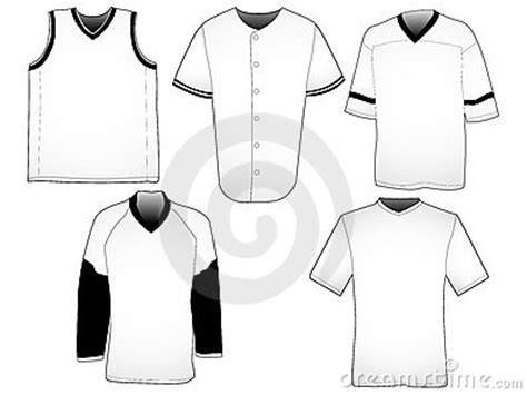 sports jersey template sport jerseys templates stock photo image 11436170