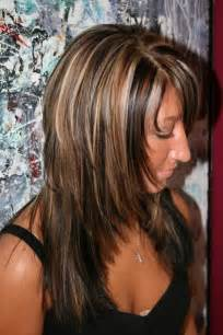 layered highlighted hair styles best medium length hairstyles with highlights