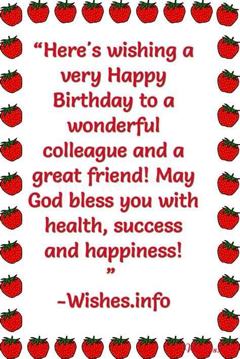 Happy Birthday Wishes To Colleague Birthday Wishes For Colleague Page 6