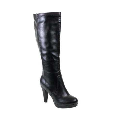 black high heel knee high boots reneeze mimi 06 womens classic high heel knee high boots